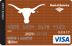 Texas Longhorns Credit Card