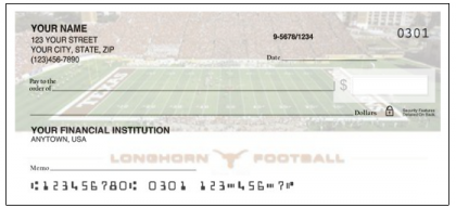 Texas Longhorns Personal Checks